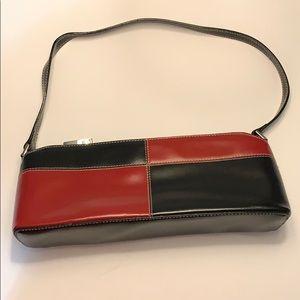 Handbags - COLOR BLOCK VEGAN LEATHER PURSE